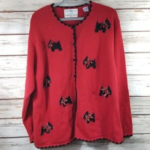 Marisa Christina Red Christmas Sweater with bells